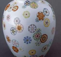 Qianlong Period Famille Rose vase detail