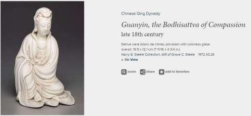 Bodhisattva Blanc-de-chine Guanyin