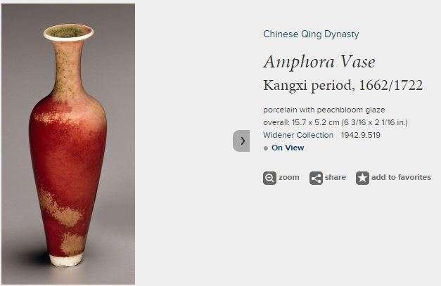 Kangxi Peach bloom Amphora vase