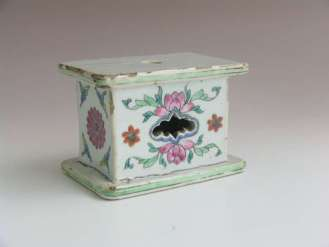 18th C. Famille Rose Chinese Plinth