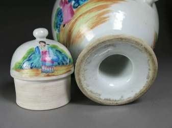 Chinese Rose mandarin Dome Teapot