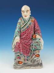 19th C. Chinese Porcelain Luohan Figure