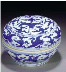 Cobalt Blue Chinese Jiajing Box