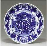 Fine Jiajing Blue-white plate