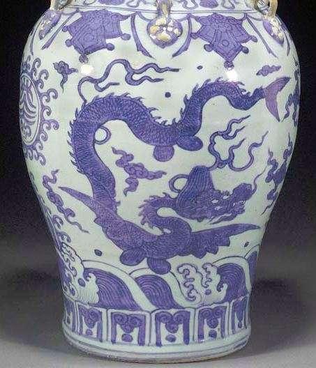 Jiajing Dragon Jar With Loop Handles