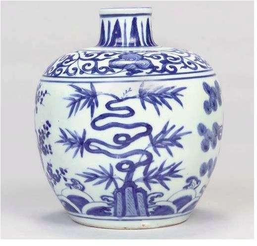 Jiajing Three Friends Jar