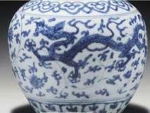 Small Blue-White Jiajing Dragon Jar