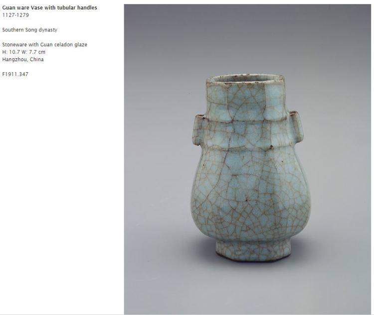 Southern Song Guan Glaze Arrow Vase