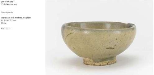 Jun Ware Cup, Yuan Dynasty