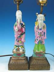 Chinese Famille Rose Statues