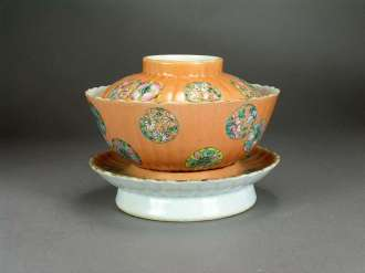 19th C. Chinese Enamel Covered Bowl