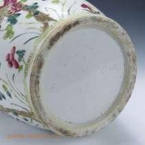 Floral Famille Rose Vase Foot-rim