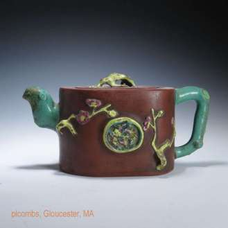 Yixing and Enamel Teapot