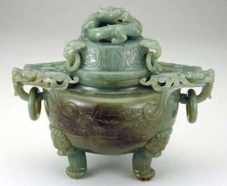 Nephrite Tripod Incense Burner