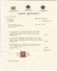 Alfred Clark receipt From John Sparks LTD