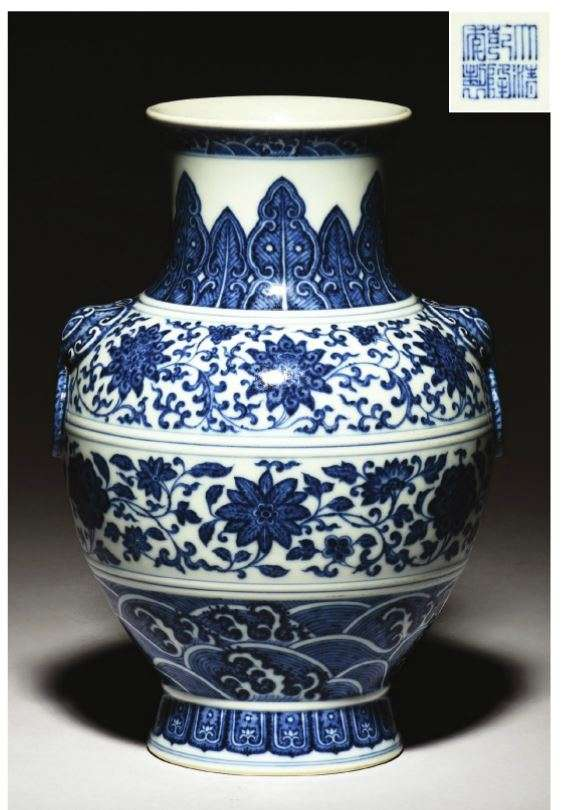 Qianlong blue and white fake