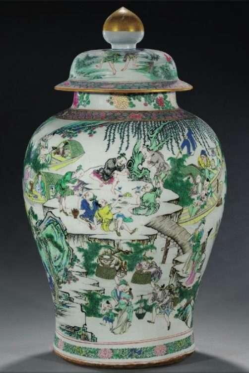 Yongzheng Jar Marchant auction