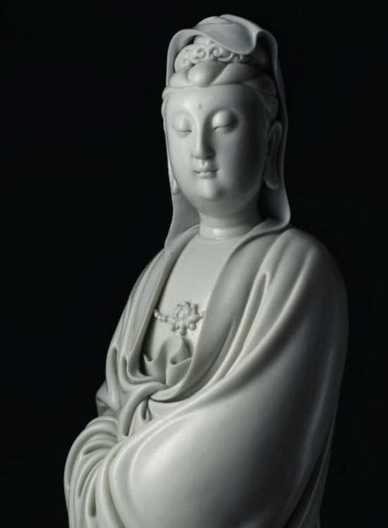 Ming , He Chaozong Blanc De Chine Kwanyin