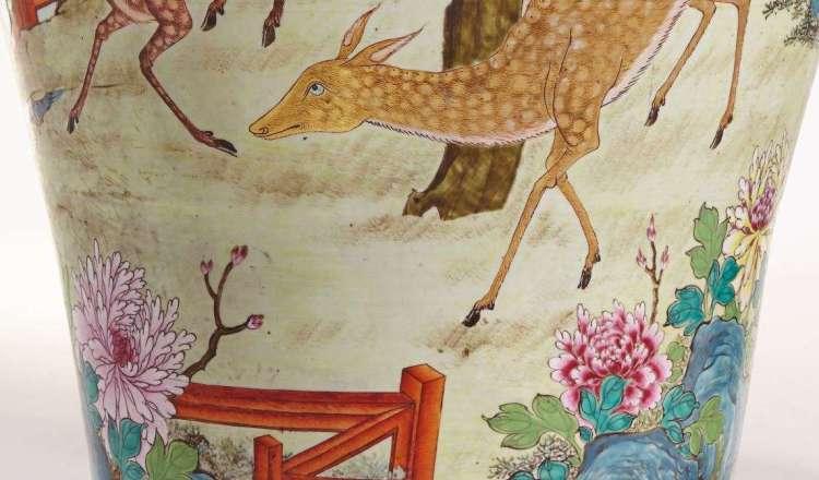 Qianlong Famille export vase