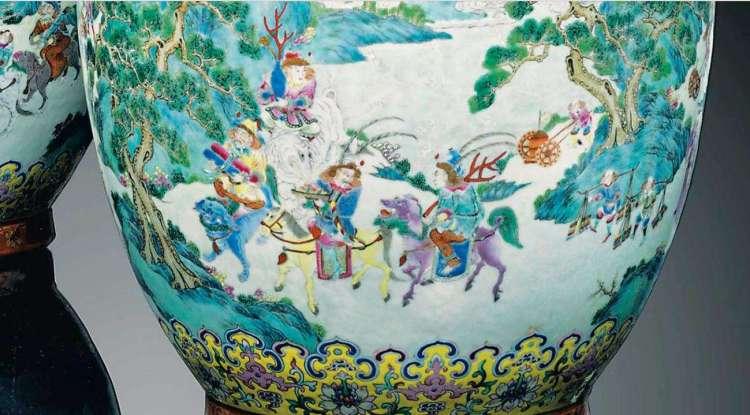 Dauguang Famille Rose vase