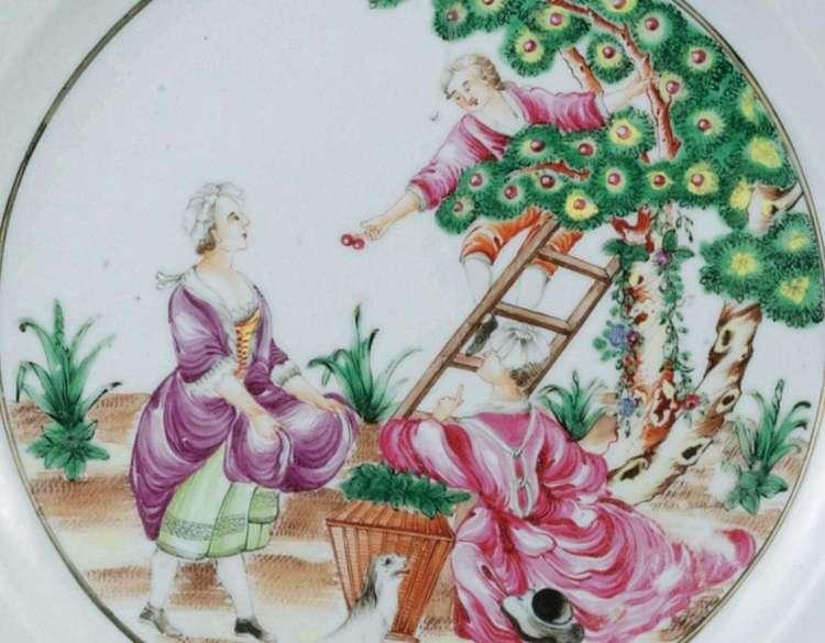Qianlong Famille Rose export dish