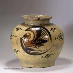 Ming cizhou pottery jar.