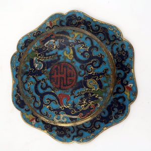Rare Chinese Ming Dynasty Cloisonne Six-Lobed Bowl Zhadou