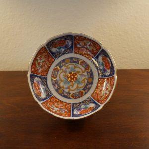 Antique Japanese Porcelain Dessert Plate Scalloped Rim