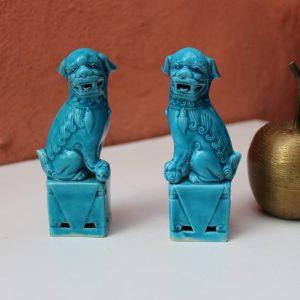 Pair of Republic period FOO DOGS fugurines