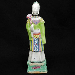 Chinese 18th C Famille Rose Polychrome Female Figure