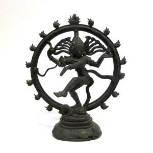 Antique Southeast Asia Metalwork Shiva Statue