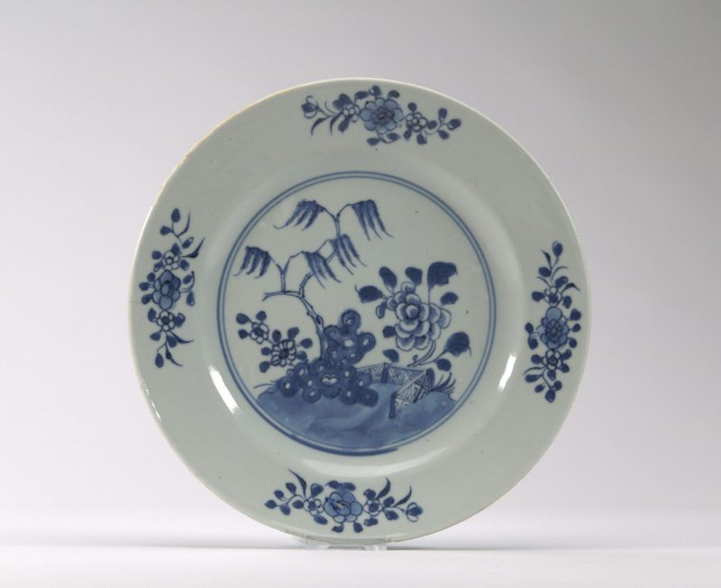 Antique Chinese Porcelain plate 18th Century Qianlong Qing Dynasty