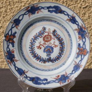18th Century Chinese Imari Porcelain Plate – Kangxi Period