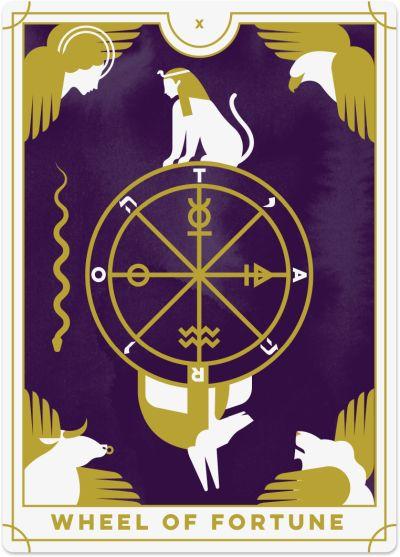 Tarot De La Chance : tarot, chance, Wheel, Fortune, Tarot, Meanings, Biddy