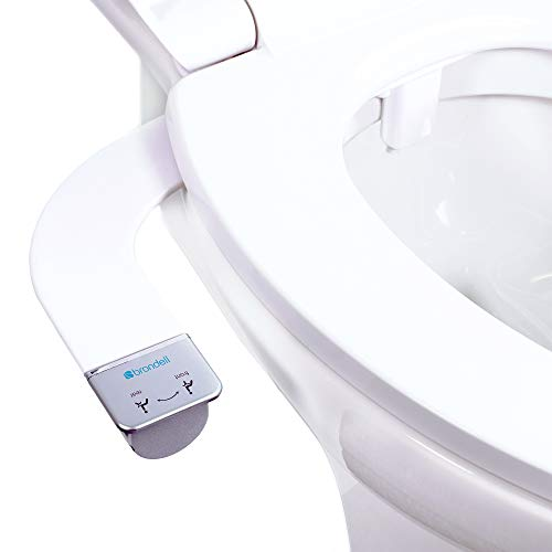 Brondell Bidet Thinline Dual Nozzle Simplespa Ss 250 Fresh Water Spray Non Electric Bidet Toilet Attachment In White With Safecore Internal Valve And Nozzle Guard Bidet Toilets Bidet Toliet Seats