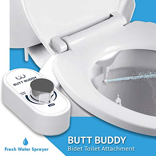 In My Bathroom Butt Buddy Fresh Water Bidet Toilet Attachment Easy To Install Self Cleaning Non Electric Bidet Toilets Bidet Toliet Seats