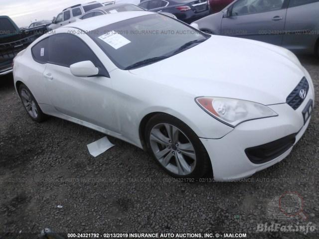 *sold* 2011 hyundai genesis coupe 2.0t walkarond, start up and tour. Hyundai Genesis Coupe 2 0t 2011 White 2 0l Vin Kmhht6kd5bu060568 Free Car History