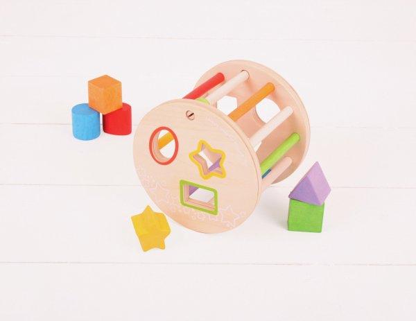 boîte à formes roulante, couleurs, triangle, carré
