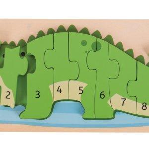 Puzzle Crocodile : j'apprends à compter