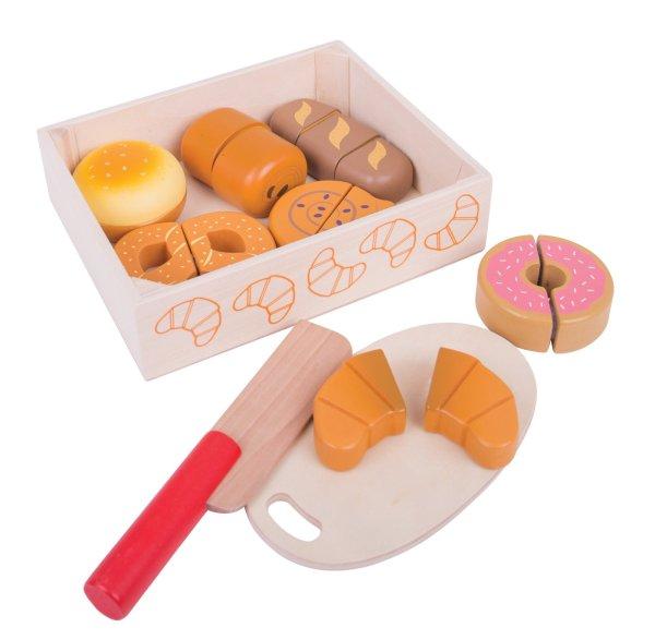 pain et viennoiseries à découper bretzel donut