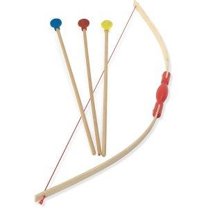 Jouet arc en bois et flèches