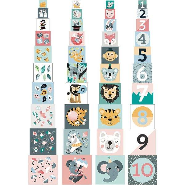 Cubes gigognes les animaux 4 faces