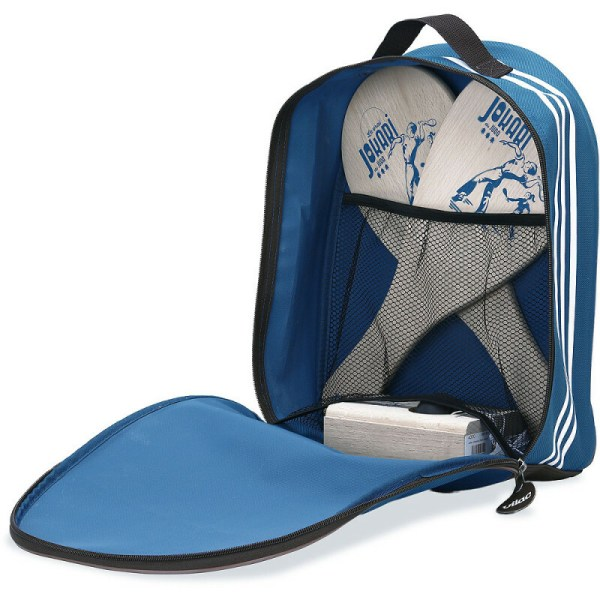 jokari classique en hetre massif dans un sac à dos bleufabriqué en france