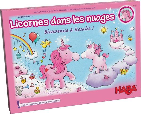 boite du jeu bienvenue à Rosalie des licornes dans les nuages