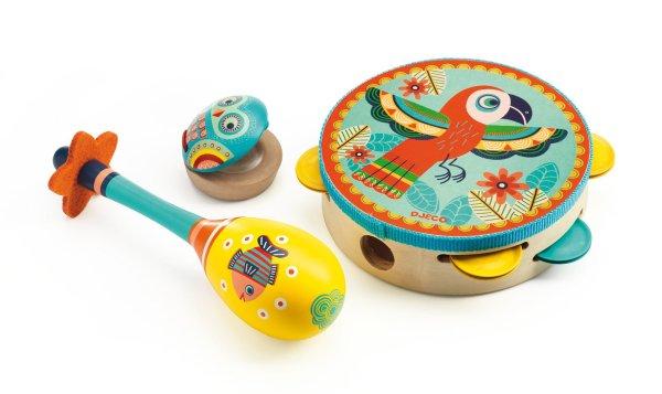 Coffret d'instruments de musique à percussion