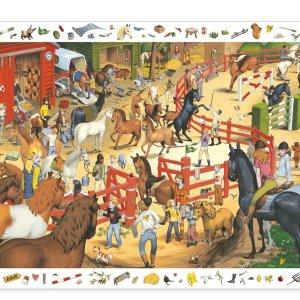 Puzzle d'observation équitation 200 pièces