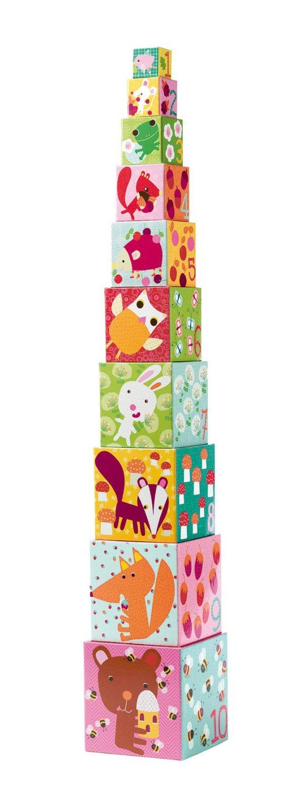 Cubes Gigognes Forêt 4 faces
