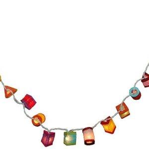 Guirlande lumineuse 35 lampions couleurs variées