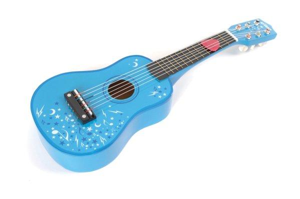 guitare bleue instrument de musique à cordes