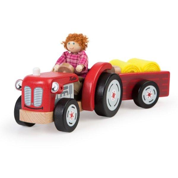 Tracteur et remorque en bois